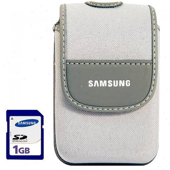 Samsung Digital Camera Case & 1gb Sd Memory Card