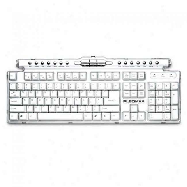Samsuung Pleomax Crystal Multimedia Keyboard With 2 Usb Ports