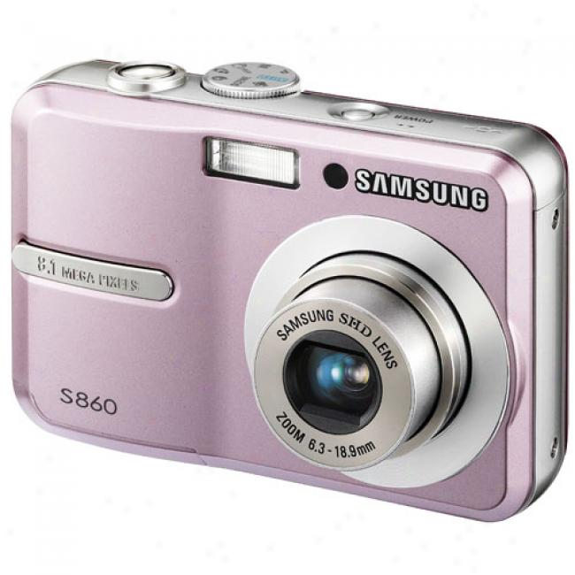 Samsung S860 Pink ~ 8.1 Mp Digital Camera W/ 3x Optical Zoom & Image Stabilization