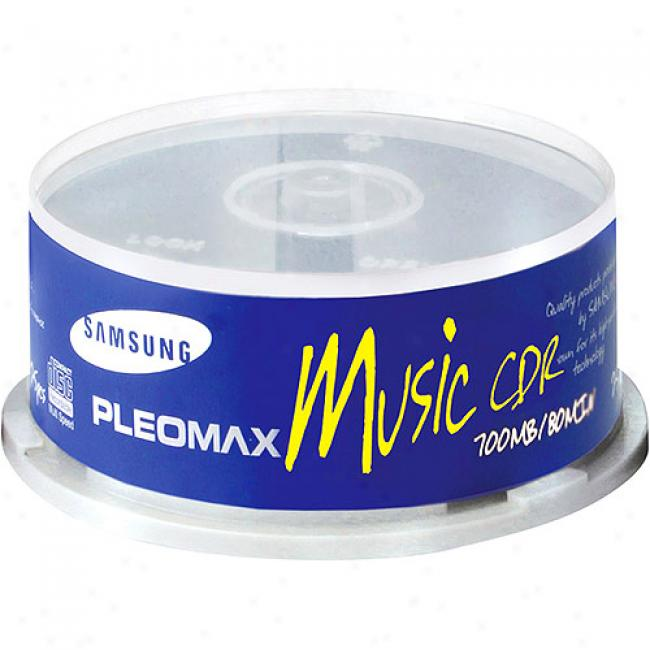 Samsung Write-once Cd-r For Audio - 25 Disc Spindle