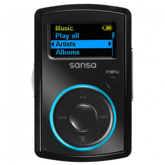 Sandisk 2gb Sanssa Clip Mp3 Player, Black