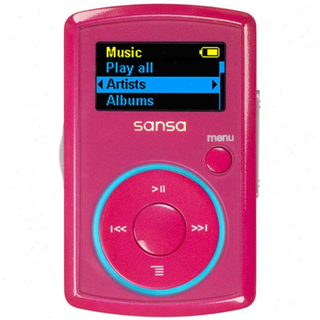 Sandisk 2gb Sansa Clip Mp3 Player, Pink