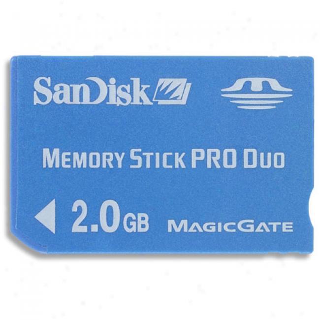 Sandisk Memory Stick Pro Duo 2gb, Blue