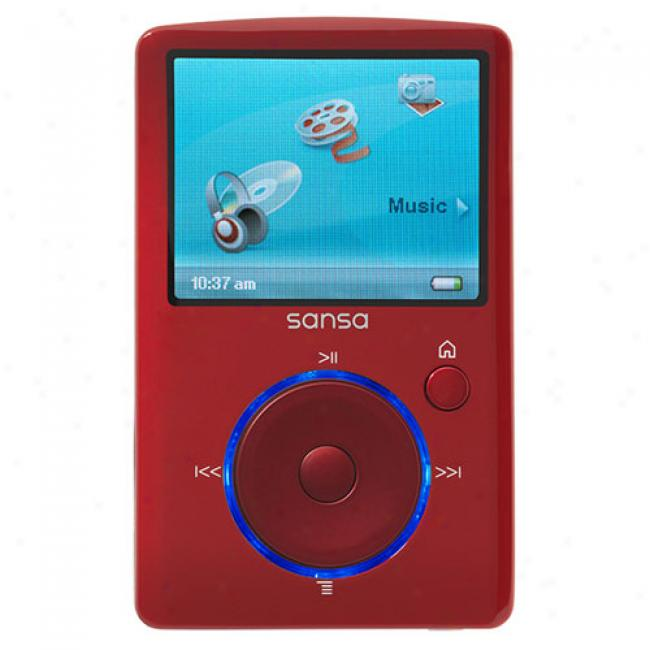 Sandsk Sansa 4gb Fuze Mp3 Video Player, Red