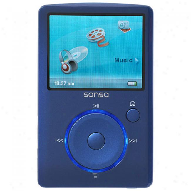 Sandisk Sansa 4gb Fuze Mp3 Video Player, Blue