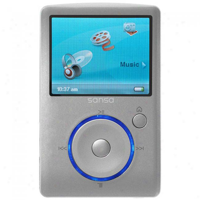 Sandisk Sansa 8gb Fuze Mp3 Video Player, Silver
