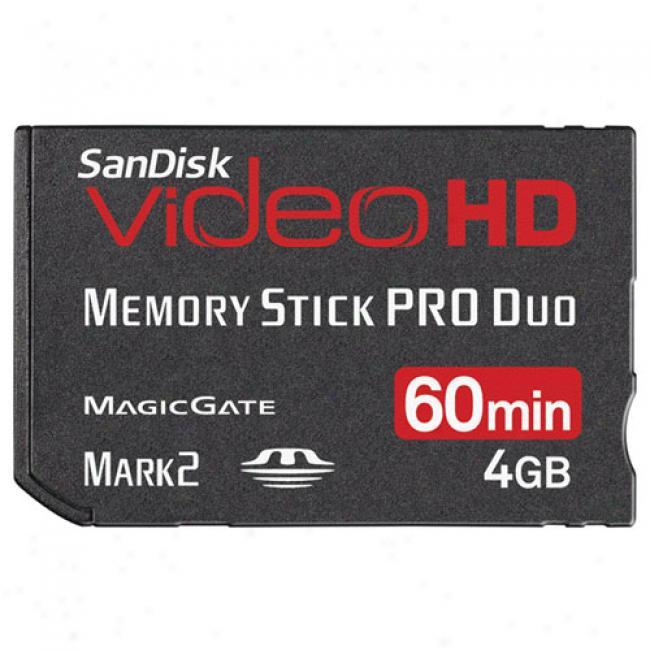 Sandisk Videohd 4gb Memory Stick Pro Duo