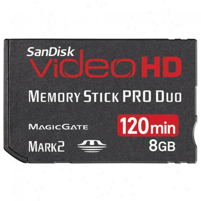 Sandisk Videohd 8gb Memory Stick Pro Duo