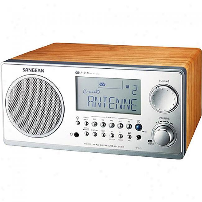 Sangean America Digital Am/fm Tablee Top Radio - Walnut