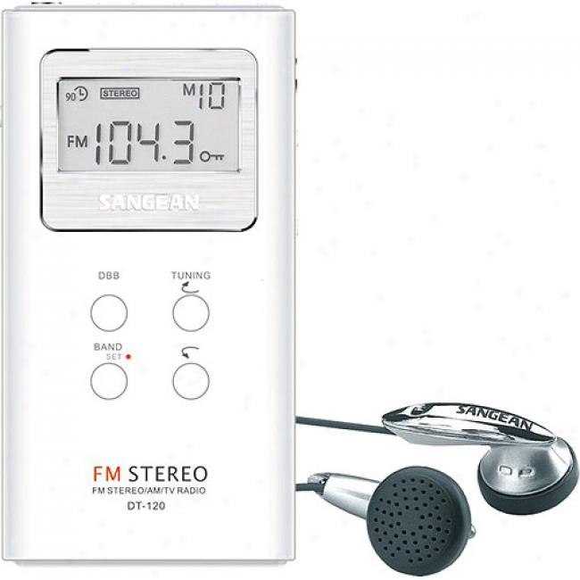 Sangean America Pocket Am/fm Receiver - White