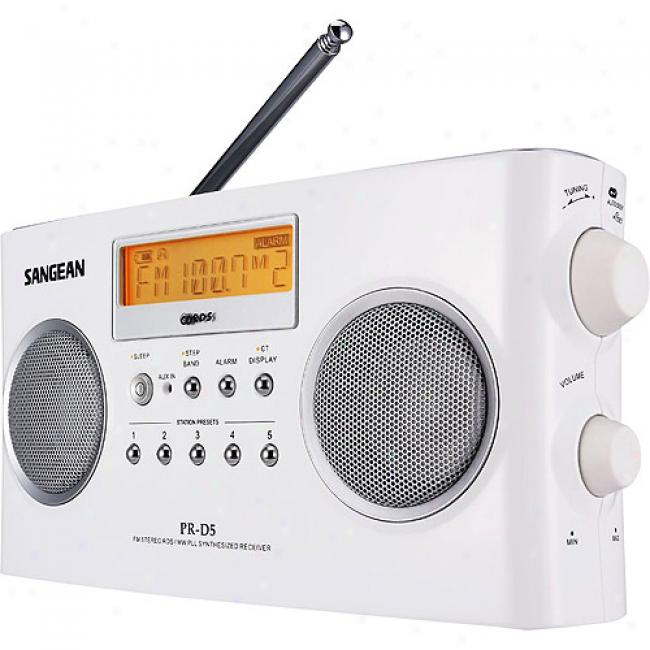 Sangean America Portable Radio With Digital Tuning And Rds