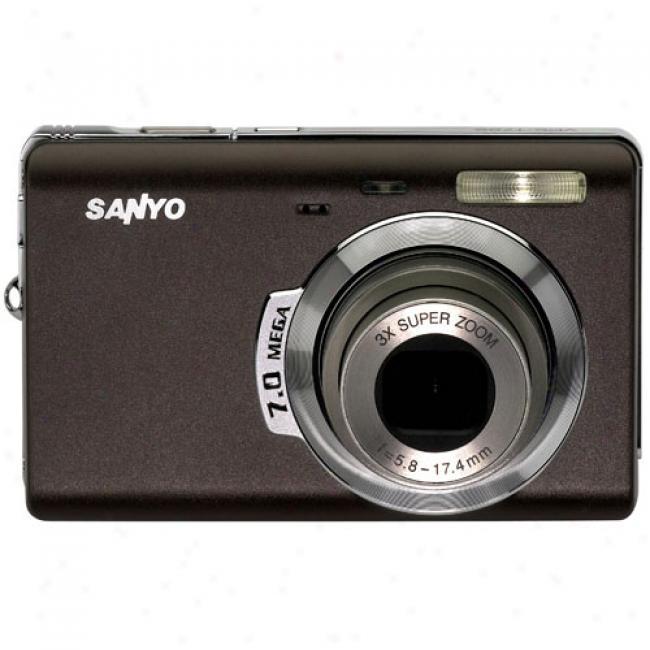 Sanyo Xacti Vpc-t700 7.0mp Digiral Camera W/ 3x Optical Zoom