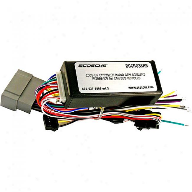 Scosche 2005-up Chrysler/dodge/jeep Radio Replacement Interface For Can Bus