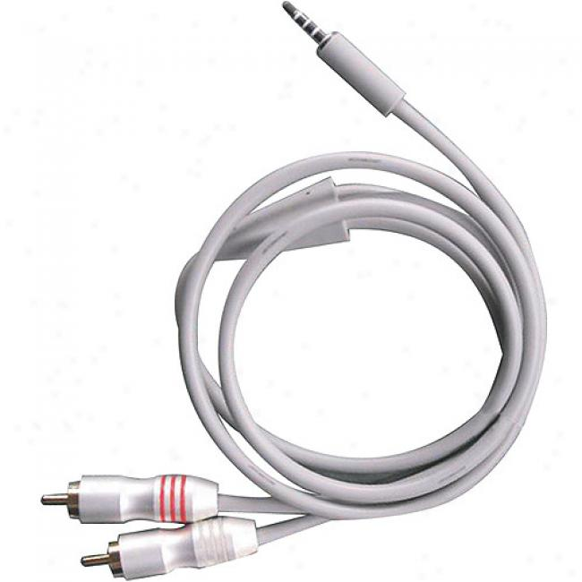 Scosche 3 Foot 3.5mm Plug To Rca Cable - Audio Only