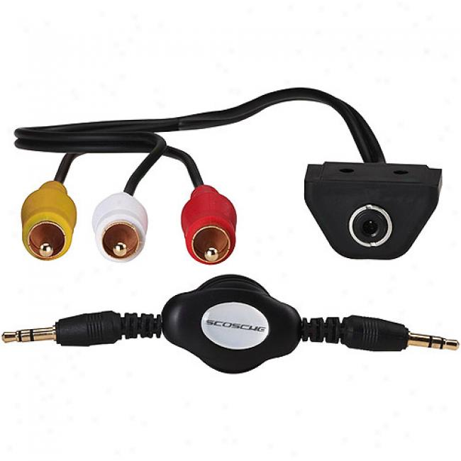 Scosche Aux Input With 3.5 Cable/video Rca Input With 3.5 Cable