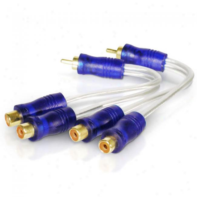 Scosche Pair Of Dual Rca Y Cables, Amyc2x2