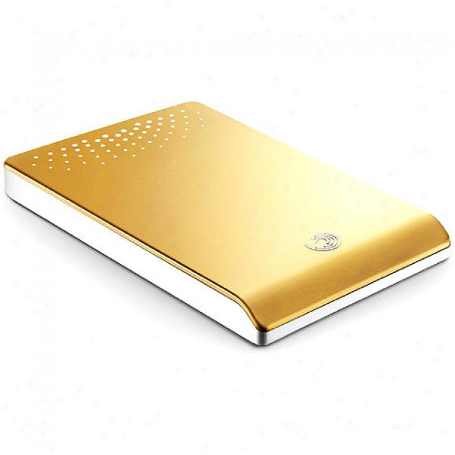 Seagate Freeagent Go Portable Hard Drive, 250gb 5400rpm - Gold
