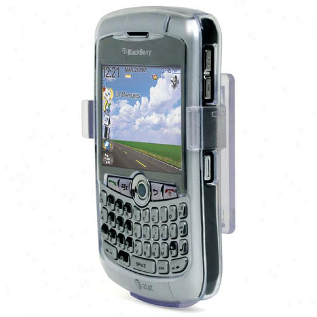 Seethru Excessive Shell Covering And Holster For Blackberry Curve
