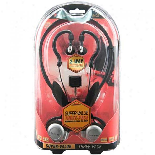 Sentry 3-pack Headphones, 784cd