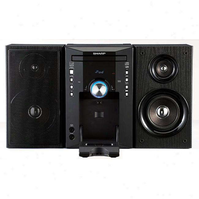Sharp Executive Micro Stereo Sysstem W/ IpodD ock, Xl-dk227n