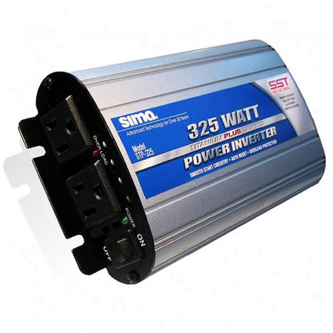 Sima Dual-outlet Dc-ac Power Inverter With Mild Start - 300-watts Continuous, 800-watts Peak