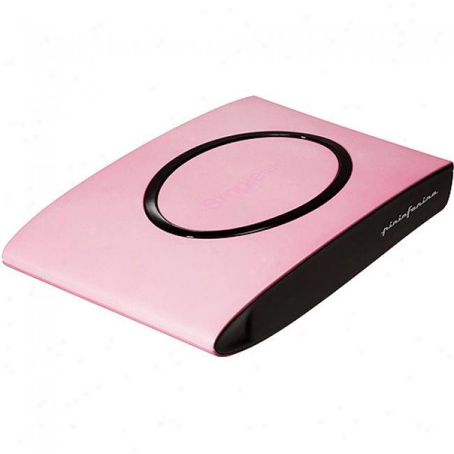 Simple Tech 250gb Signature Usb 2.0 Mini Portable Hard Drive, Bubblegum