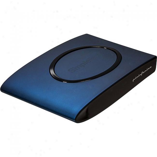 Simpletech 160gb Usb 2.0 Signature Mini Portable Drive, Blueberry