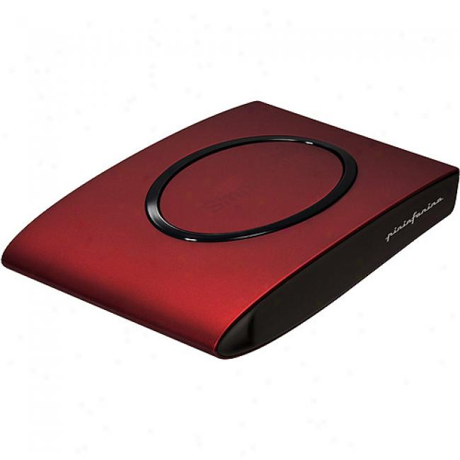 Simpletech Signature Mini 320gb Portable Hard Drive, Black Cherry