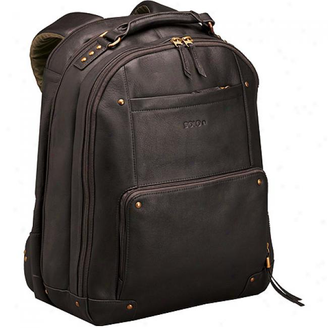 Solo Vintage Collection Leather Backpack, Espresso Brown