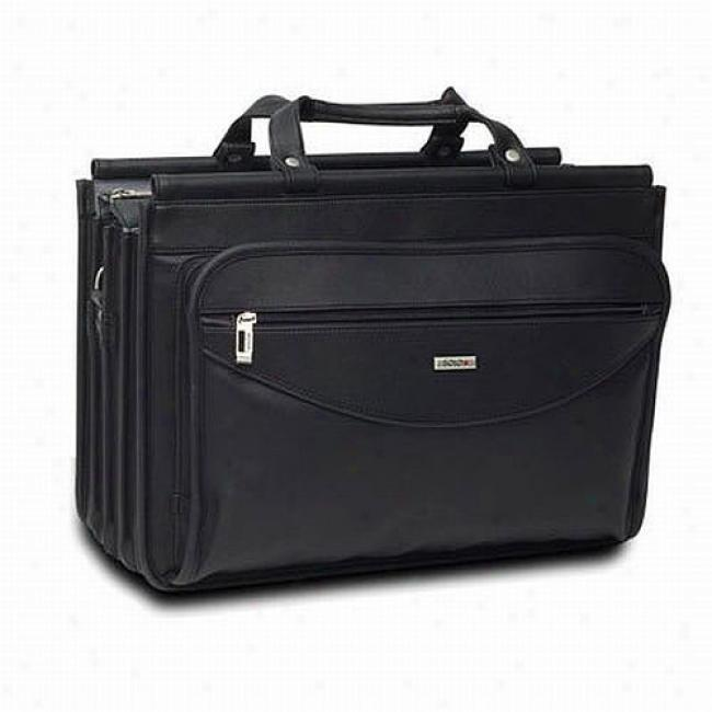 Solo Vinyl Laptop Computer Brief Case, Black