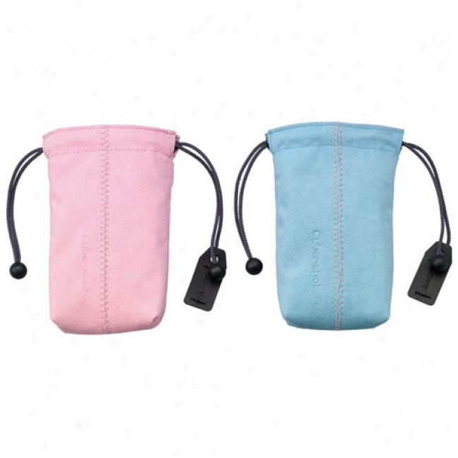 Sony 2-pack Digital Camera Pouches, Pink And Blue (lcs-csk)