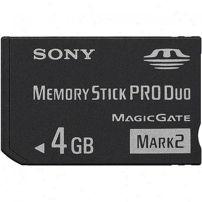 Sony 4gb Memory Stick Pro Duo, Mark 2