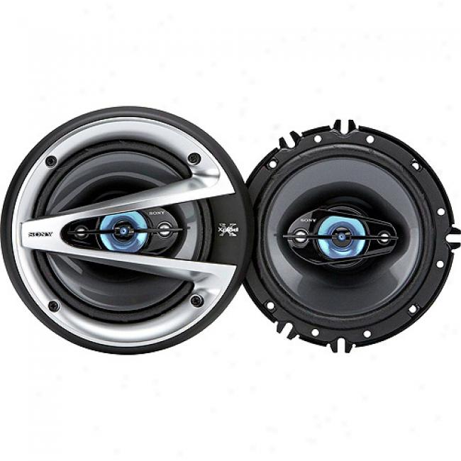 Sony 6 X 9 3-way Speakers, 400 Watts Power Handling, Xsgtx1640
