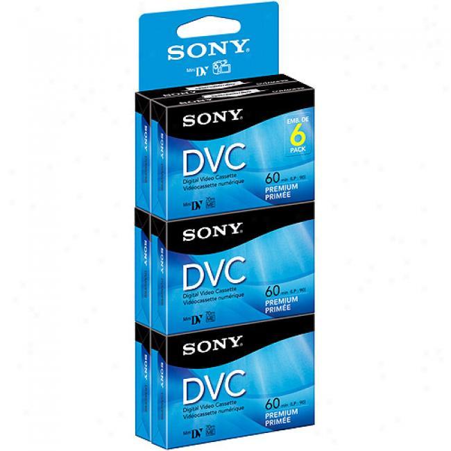 Sony 60-minute Minidv Tapes, 6-pack