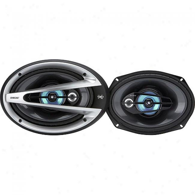 Sony 6x9 3-way Speakers, 190 Watts Power Handling, Xsgtx6930