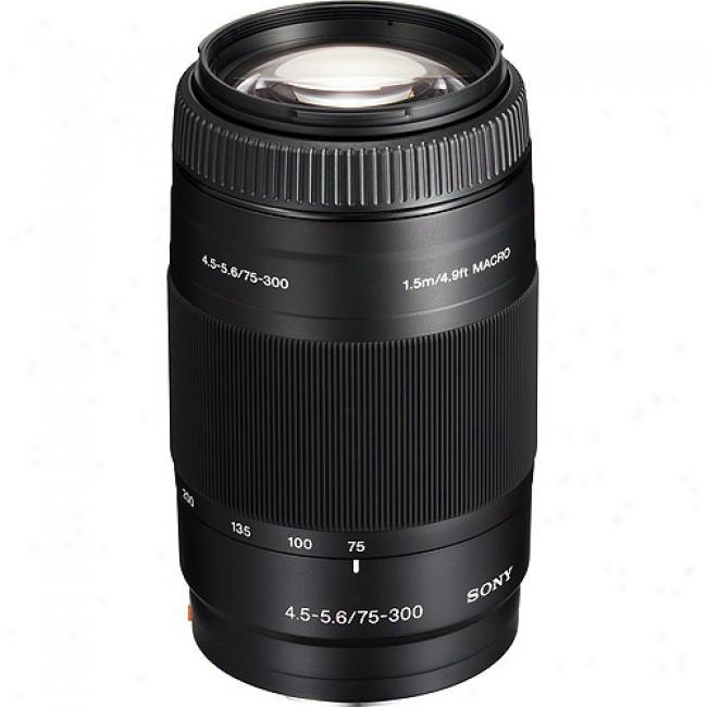 Sony Alpha Sal75300 Digital Zoom Lens, 112.5mm-450mm