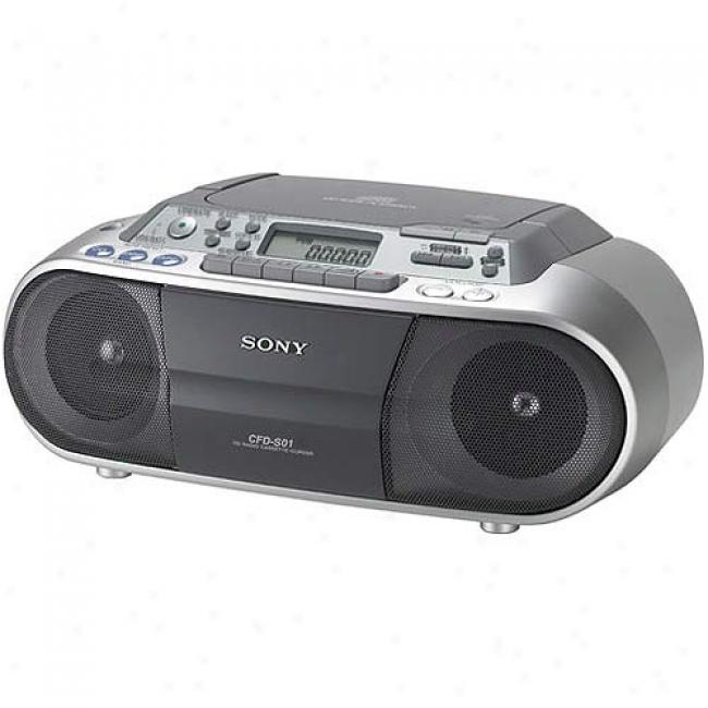 Sony Boom Box With Cd Player & Cassette Recorder,cfd-s01cd