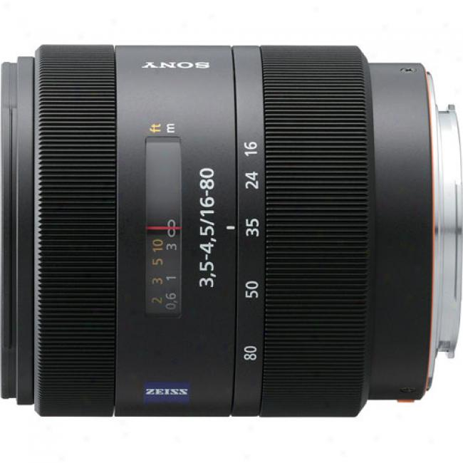 Sony Carl Zeiss Vario-sonnar T* Dt 16-80mm F/3.5-4.5 All-in-one Zoom Lens For Soy Alpha Digital Slr