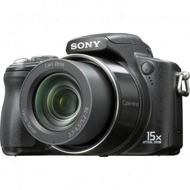 Sony Chber-shot Dsc-h50 Black 9.1 Mp Digital Camera W/ 15x Optical Zoom & Face Discovery