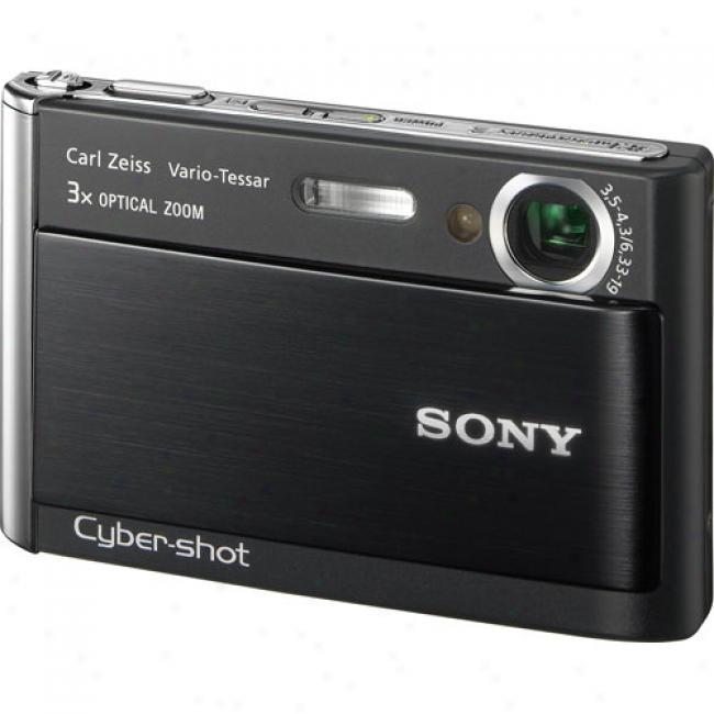 Sony Cyber-shot Dsc-t70 Black 8.1 Mp Digital Camera W/ 3x Optical Zoom & Image Stabilization