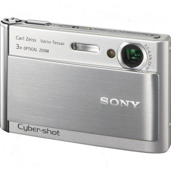 Sony Cyber-shot Dsc-t70 Silver ~ 8.1 Mp Digital Camera W/ 3x Optical Zoom & Image Stabilization