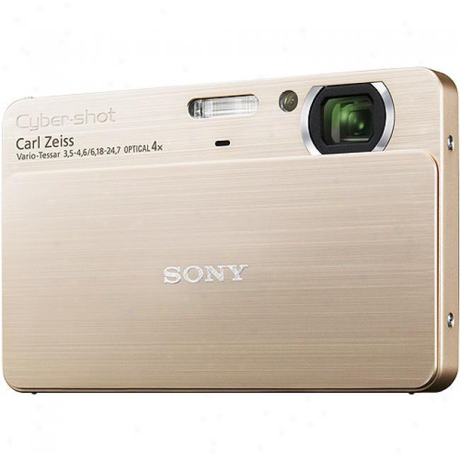 Sony Cyber-shot Dsc-t700 Gold 10.1 Megapixel, 3.5