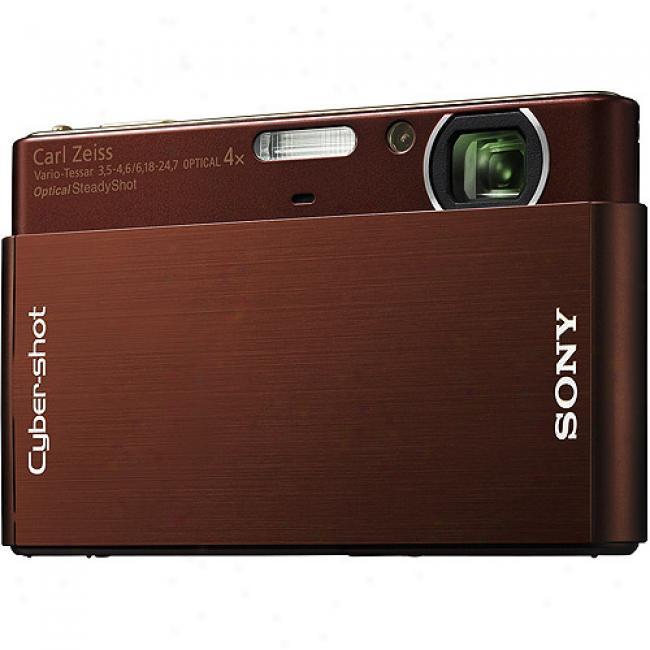 Sony Cyber-shot Dsc-t77 Brown 10.1-megapixel, 3.0