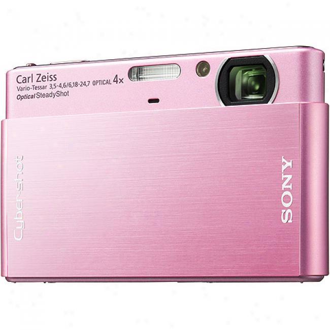 Sony Cyber-shot Dsc-t77 Pink 10.1-megapixel, 3.0