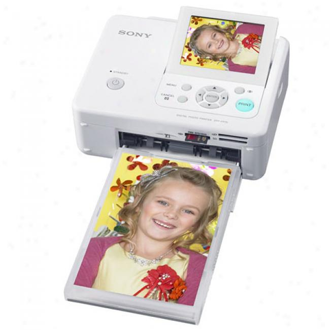 Son yDppfp75 4x6 Dye-sub Compact Photo Printer W/ 3.5