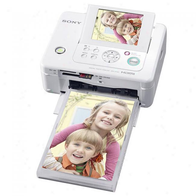 Sony Dlpfp95 Picture Station: 4x6 Dye-sub Compact Photo Printet W/ 3.6