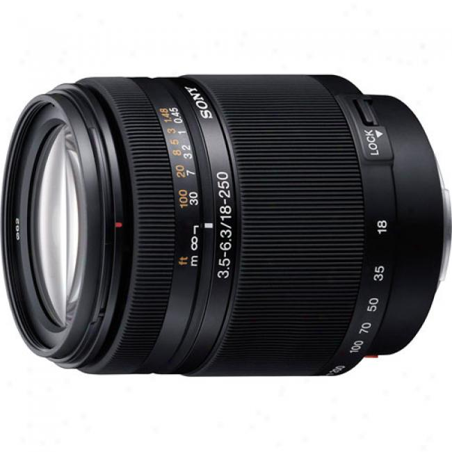 Sony Dt 18-250mm F/3.5-6.3 High Magnification Zoom Lens For Sony Alpha Digital Slr