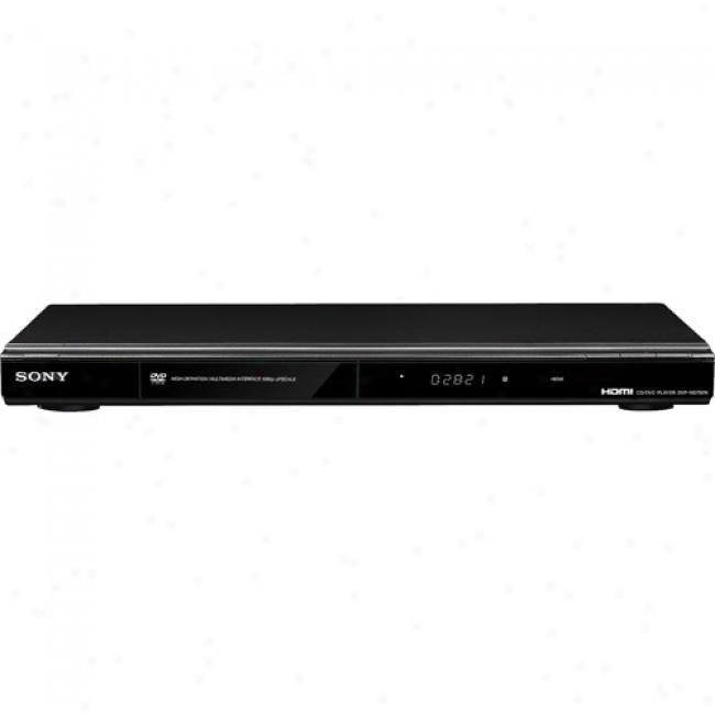 Sony Dvd Player W/ 1080p Upconversion, Dvp-ns700h/wm Black