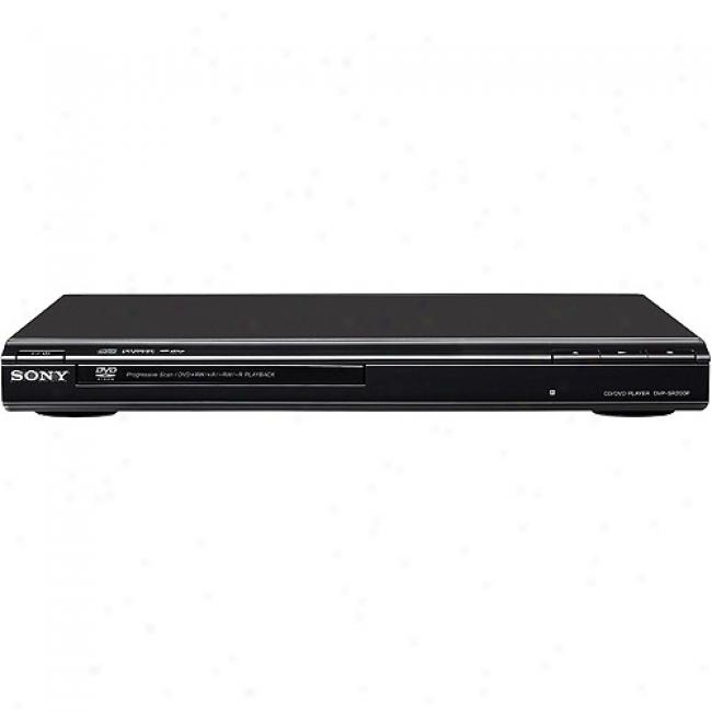 Sony Dvd Player W/ Progresdive Scan, Dvp-sr200p/b