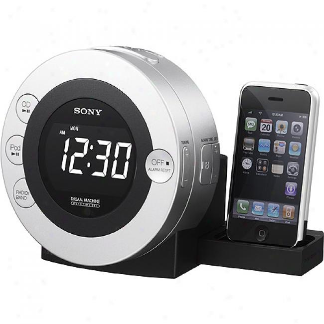 Sony Icf-cd3ipsil Cd Clock Radio For Ipod And Iphone